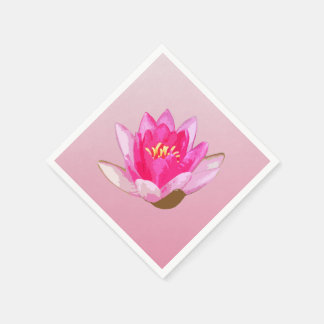 Pink Water lily on Light Pink Napkin