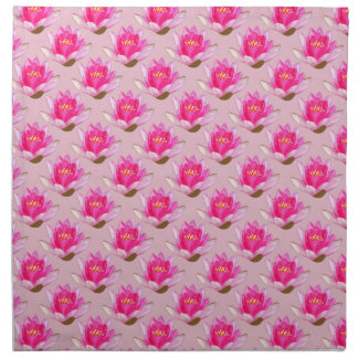 Pink Water lily Pink Background Cloth Napkin