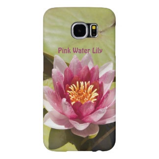 Pink Water Lily Samsung Galaxy S6 Cases
