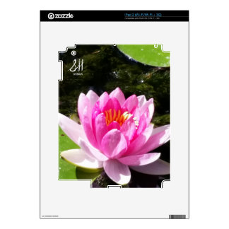 Pink Water Lily Skin For The iPad 2
