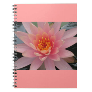 Pink Water Lily Spiral Note Books