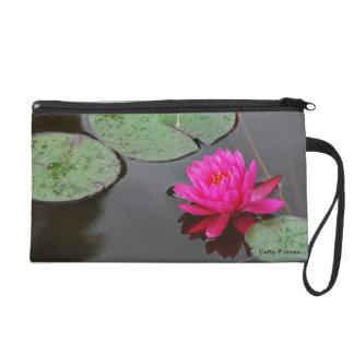 Pink Water Lily Wristlet