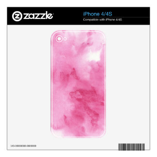 pink watercolor background for your decal for the iPhone 4S