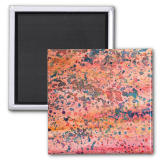 Pink Watercolor Background Texture Design Custom 2 Inch Square Magnet