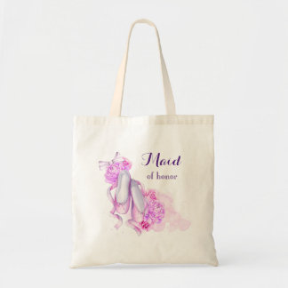Pink Watercolor Ballet Shoes Maid of Honor Tote Bag