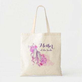 Pink Watercolor Ballet Shoes Mother of the Bride Tote Bag