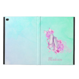 Pink Watercolor Ballet Shoes with Peonies and Bow Powis iPad Air 2 Case