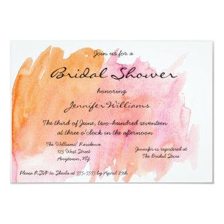 Pink Watercolor Bridal Shower Invitations