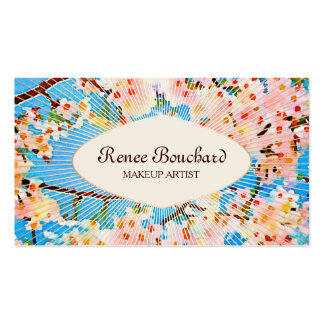 Pink Watercolor Cherry Blossom Vintage Floral Business Card
