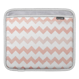 Pink Watercolor Chevron Zigzag Pattern Sleeve For iPads