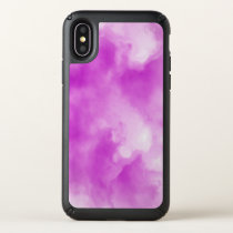PINK watercolor cloud Iphone X case