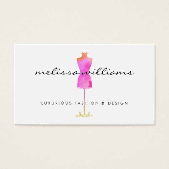 Pink watercolor dress mannequin fashion boutique business card pink watercolor dress mannequin fashion boutique business card reheart Images
