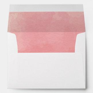 Pink Watercolor Envelope