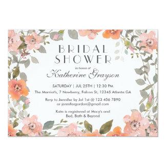 Pink Watercolor Flower Bridal Shower Invitation