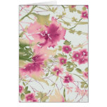 Pink Watercolor Flowers Card