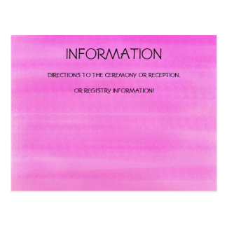 PINK WATERCOLOR INFORMATION CARD