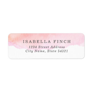 Pink Watercolor Label