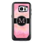 Pink Watercolor, Monogrammed Otterbox Samsung Galaxy S7 Edge Case at Zazzle