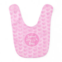 Pink watercolor personalized baby clothes baby bib
