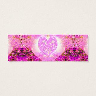Pink Watercolor Petal Mini Business Card
