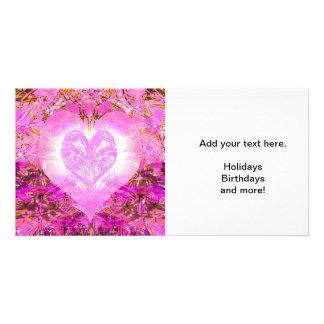 Pink Watercolor Petal Photo Card Template