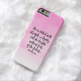Pink Watercolor Proverbs 31 Christian Womens Bible Barely There iPhone 6 Case