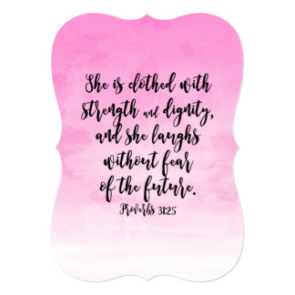 Pink Watercolor Proverbs 31 Christian Womens Bible Card
