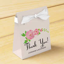 Pink Watercolor Ranunculus Personalized Favor Box