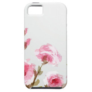 pink watercolor rose floral boho bloom iPhone 5 cases