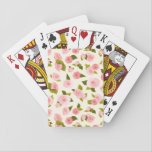 """Pink Watercolor Rose  Flower Pattern Playing Cards<br><div class=""""desc"""">The freshness and spaciousness of flowers meet the elegance of watercolor. With this design of pink flower,  you will feel yourself in nature wherever you are.</div>"""