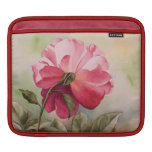 Pink watercolor rose sleeves for iPads