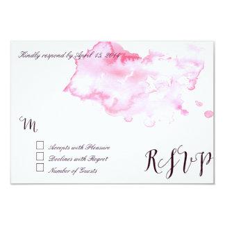 Pink watercolor RSVP Cards II