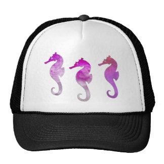 Pink Watercolor Seahorses Mesh Hats