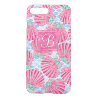 Pink Watercolor Shells Mermaid Scales Personalized iPhone 8 Plus/7 Plus Case