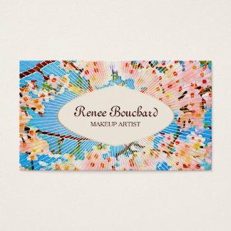 Pink Watercolor Vintage Floral Business Card