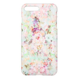 Pink watercolor vintage flowers pattern iPhone 7 plus case
