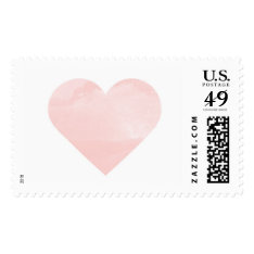 Pink Watercolor Wash Heart Stamp at Zazzle