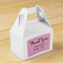 Pink Watercolor Wedding Favor Boxes