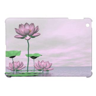 Pink waterlilies and lotus flowers - 3D render iPad Mini Covers