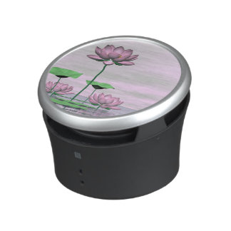 Pink waterlilies and lotus flowers - 3D render Speaker