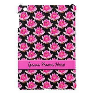 Pink Waterlilies Black iPad Mini Case
