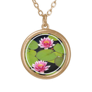 Pink Waterlilies Necklace
