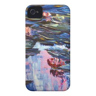 Pink Waterlilies, Pink Sky, Sue Ann Jackson iPhone 4 Case-Mate Case