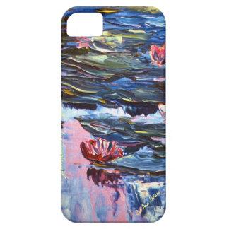Pink Waterlilies, Pink Sky, Sue Ann Jackson iPhone SE/5/5s Case