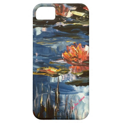 Pink Waterlilies, Sue Ann Jackson Signature iPhone 5 Covers