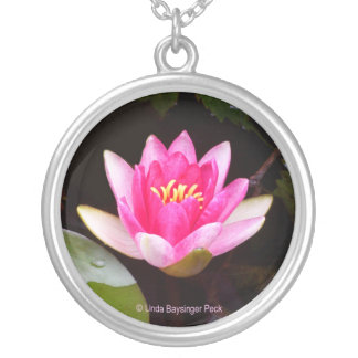 Pink Waterlily Custom Necklace
