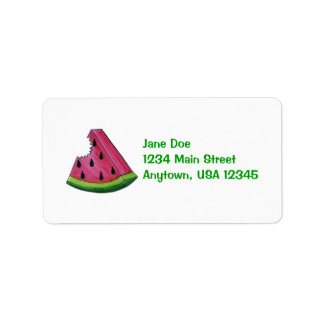 Pink Watermelon Fruity Fruit Slice Address Label