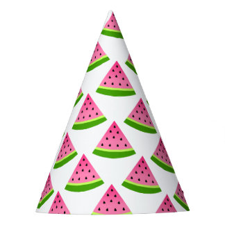Pink Watermelon Pattern Party Hat