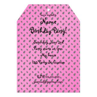 Pink watermelon seeds 5x7 paper invitation card
