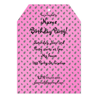 Pink watermelon seeds personalized invitations